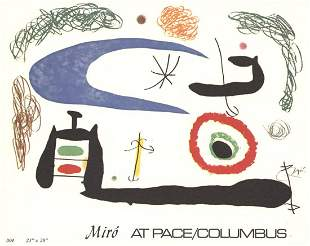 "Joan Miro - Invitation x 50 cards - 1976 5.75"" x 7.25"""