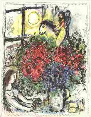 "Marc Chagall - La Chevauchee x 50 cards - 1979 7"" x"