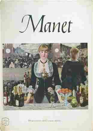 """Manet - 16 Beautiful Full Color Prints - 1953 Book 15"""""""