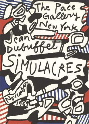"""Jean Dubuffet - Simulacres-Deck of 50 cards - 1969 8"""""""