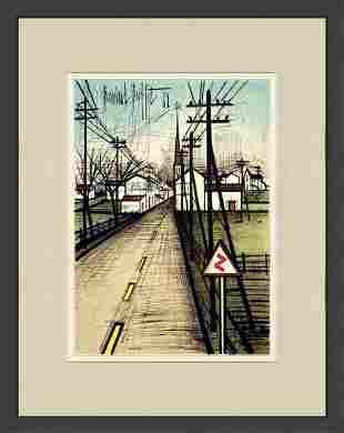 Bernard Buffet - La Route vers le village - Lithograph