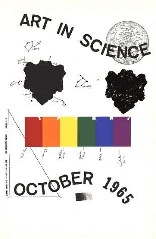 """Jim Dine - Art in Science - 1965 Serigraph 40"""" x 26"""""""