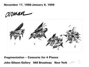 Pierre Fernandez Arman - Fragmentation - 1999 Offset