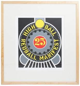 Robert Indiana - Highball on the Redball Manifest -