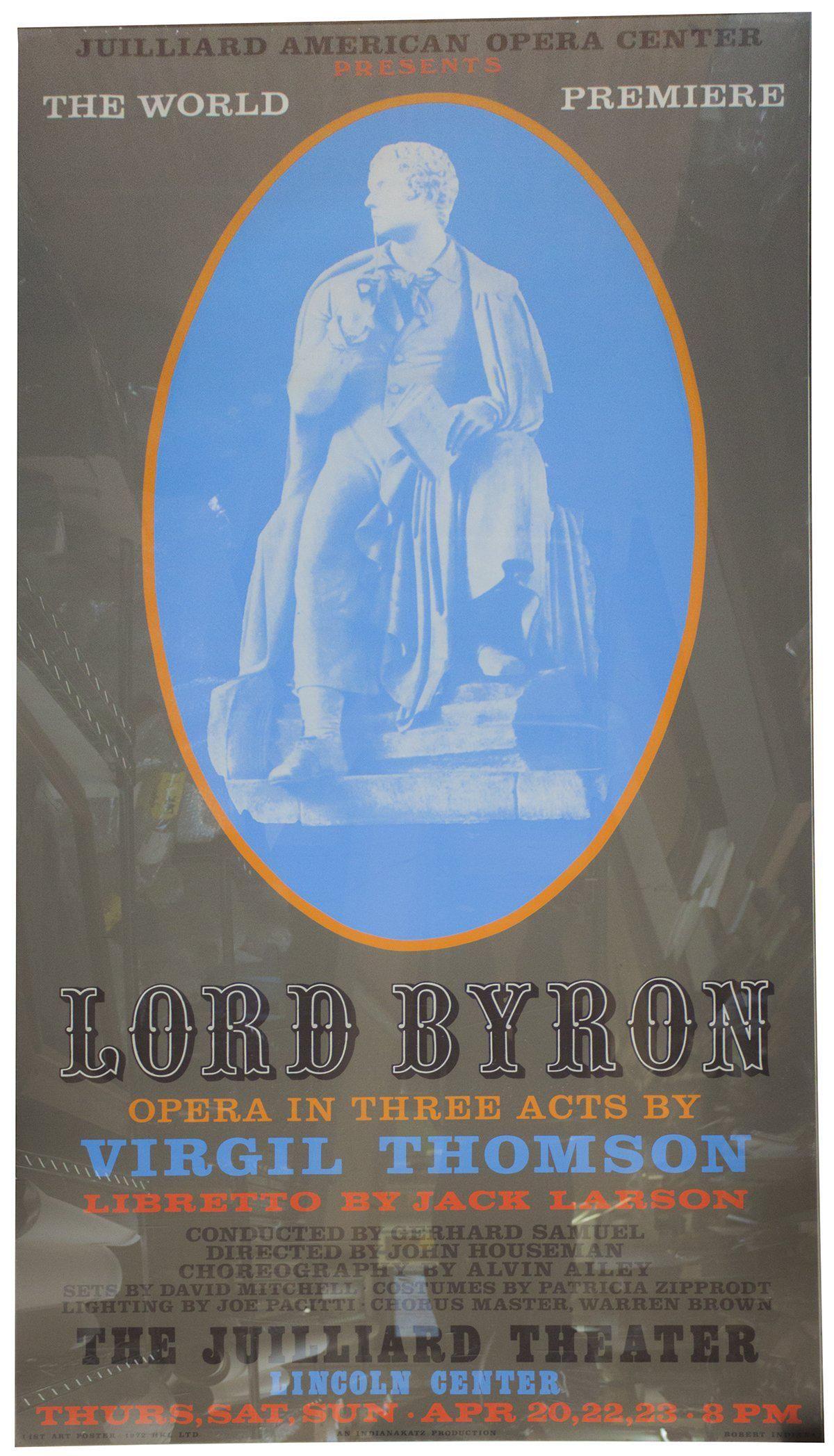 "Robert Indiana - Lord Byron - 1972 Serigraph 80.5"" x"