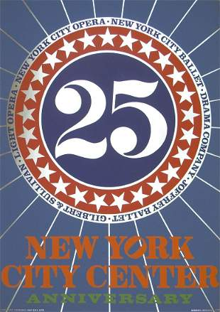 Robert Indiana - New York City Center - 1968 Serigraph