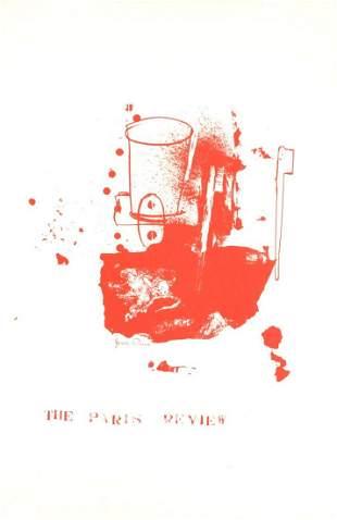 """Jim Dine - Paris Review - 1975 Serigraph 40"""" x 26.5"""""""