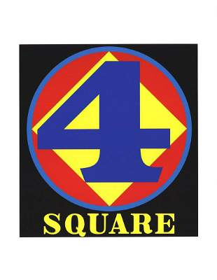 Robert Indiana - Polygon: Square (Number Four) - 1997