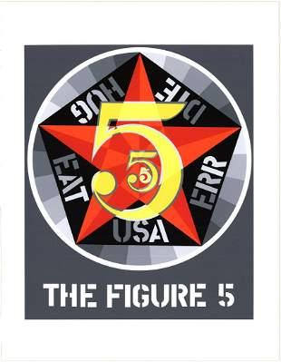 "Robert Indiana - The Figure Five - 1997 Serigraph 22"" x"