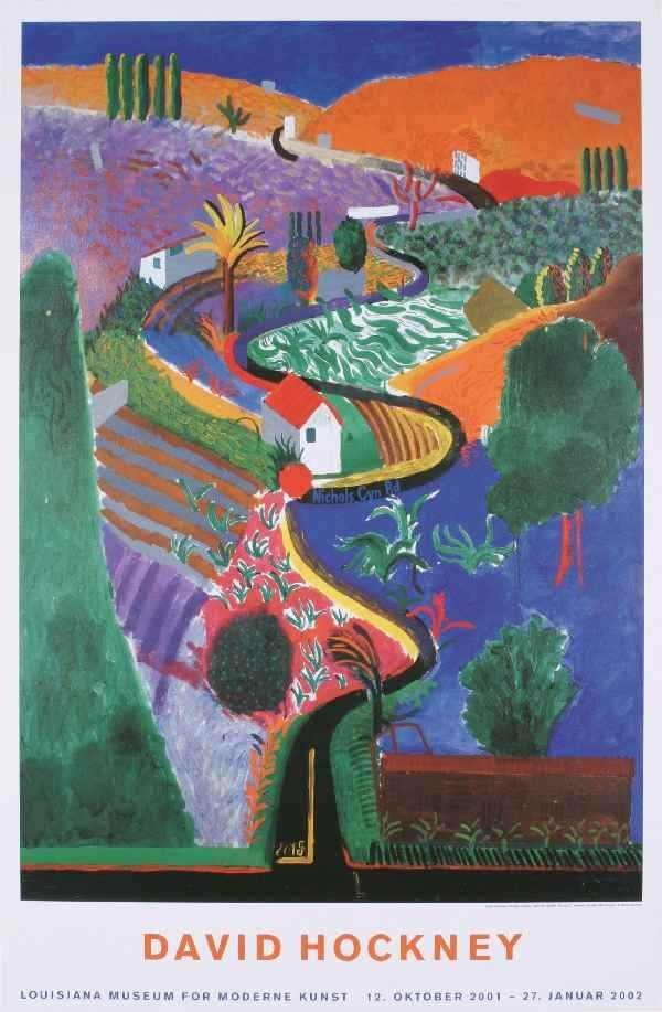 000010: 5 Assorted David Hockney Louisiana Posters