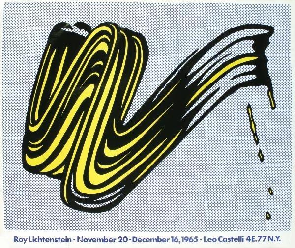 00002: 5 Assorted Lichtenstein Brushstrokes Posters