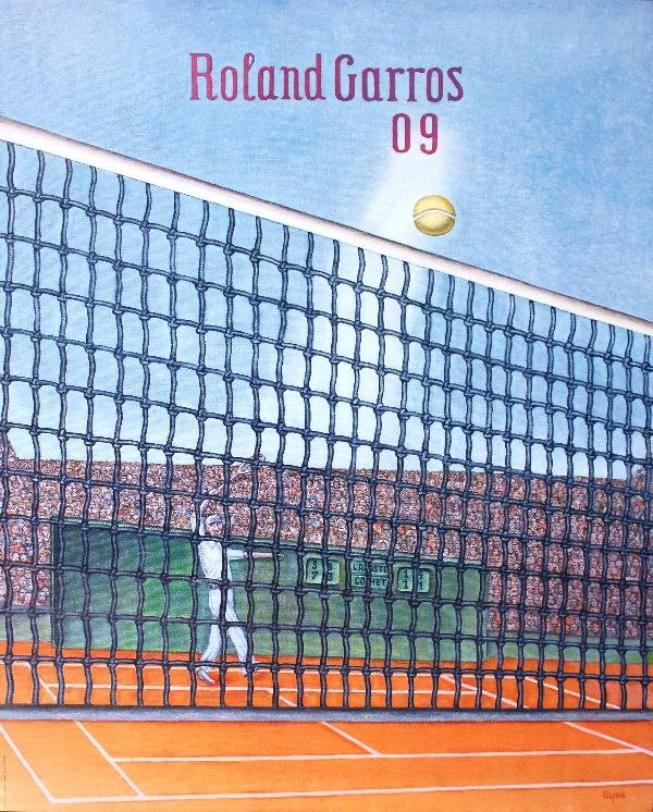 000023: 16 Assorted Roland Garros Tennis Posters