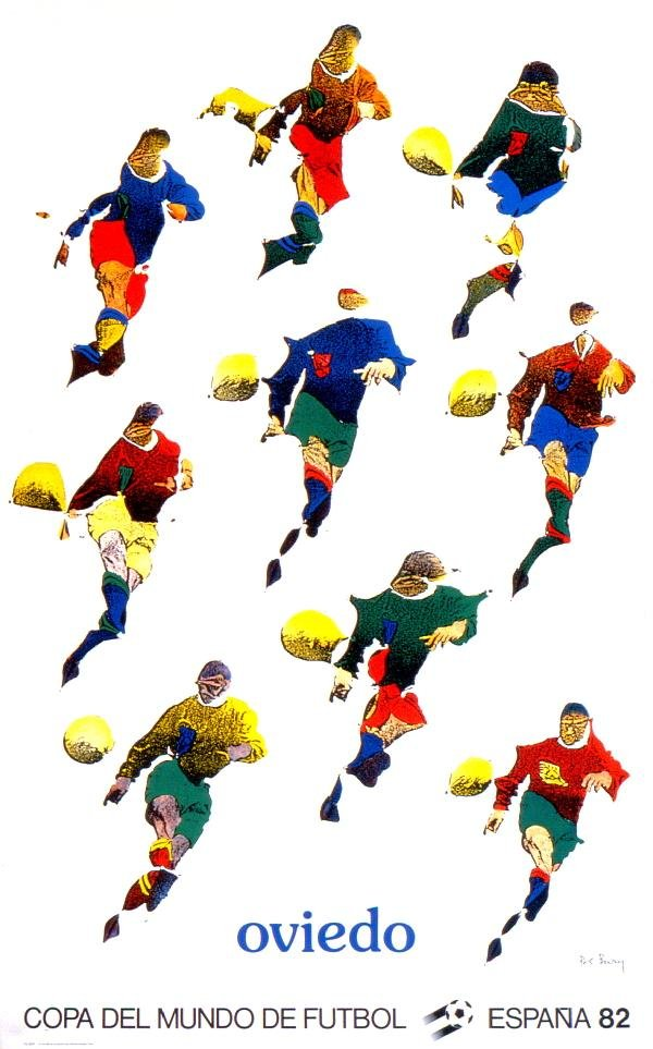 000024: 7 Assorted Spain 1982 World Cup Original Poster