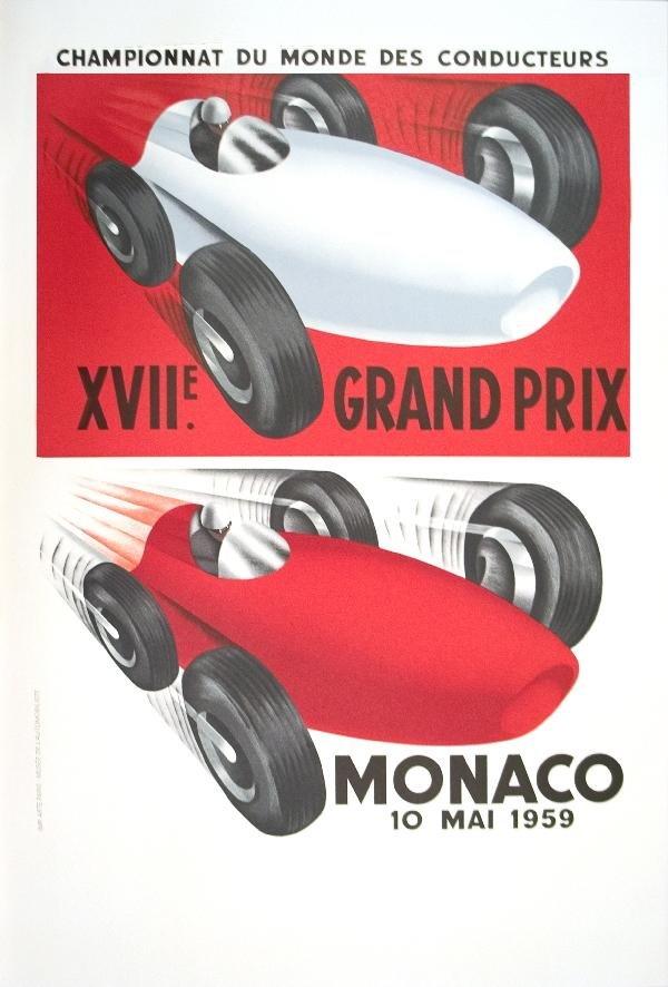 000025: 16 Assorted 1930-1959 Monaco Grand Prix Posters