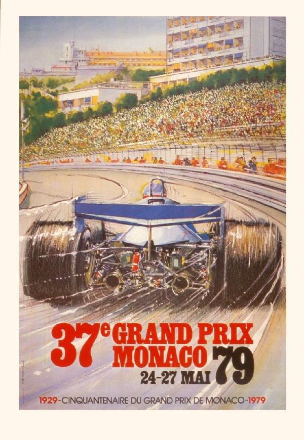 000026: 7 Assorted 1960-1985 Monaco Grand Prix Posters