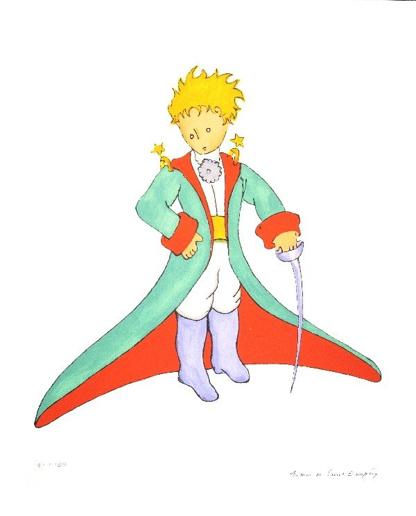 000029: 7 Assorted Saint Exupery Little Prince Posters