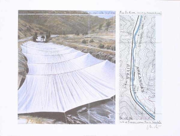 000041: 8 Assorted Christo Arkansas River Project Poste