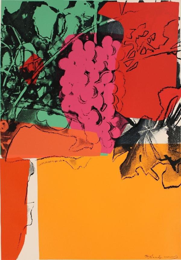 999797B: Signed 1979 Warhol Grapes  II.190 Serigraph