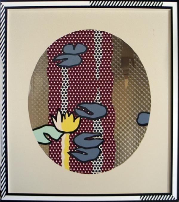 999927B: S/N 1992 Lichtenstein Blue Water Lily Pads