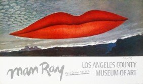 101047B: Signed 1966 Man Ray Lips Poster