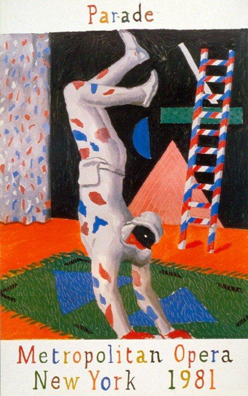 101061: 1980 Hockney Harlequin Poster