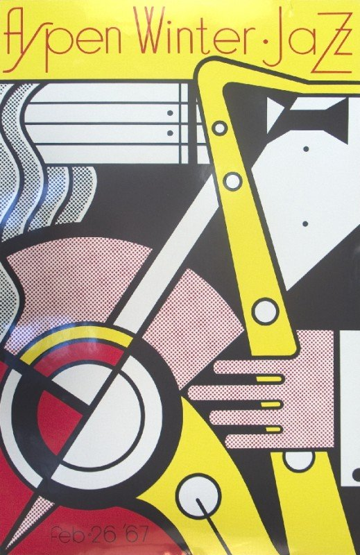 101129: 1967 Lichtenstein Aspen Jazz Serigraph