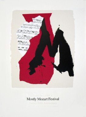 101808: 1991 Motherwell Mostly Mozart Festival Serigrap