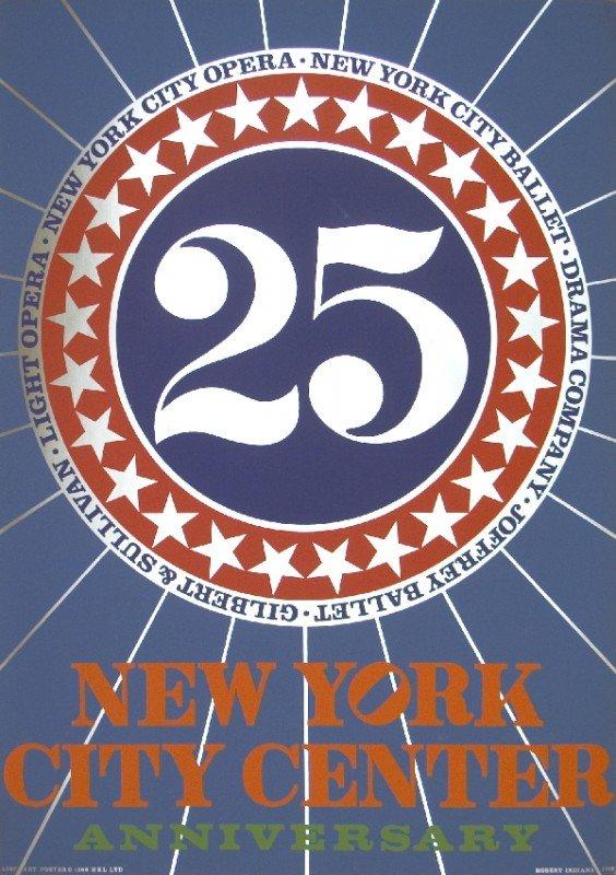 121017: 1968 Indiana New York City Center Mixed Media