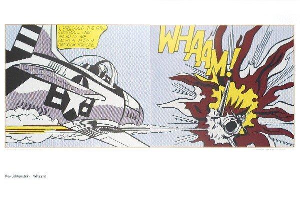 121117: Lichtenstein Whaam (Diptych) Poster