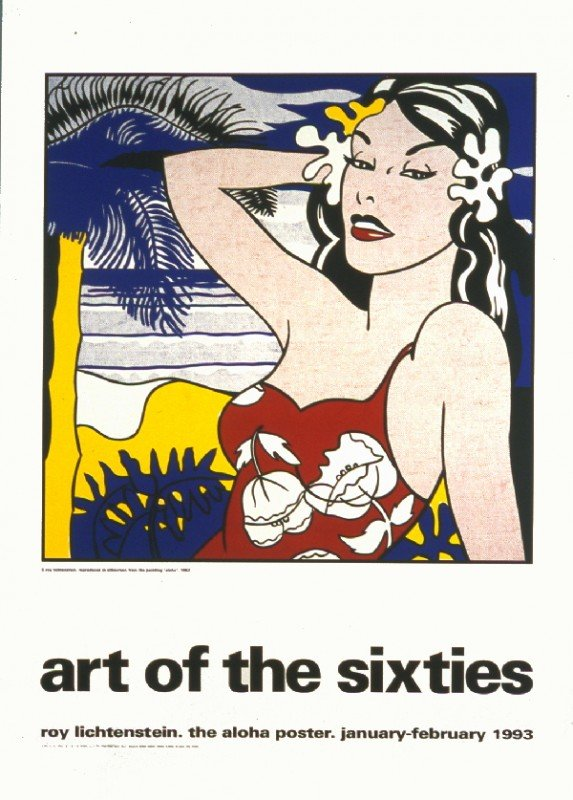 121912: Lichtenstein Aloha from Art of the 60's Serigra