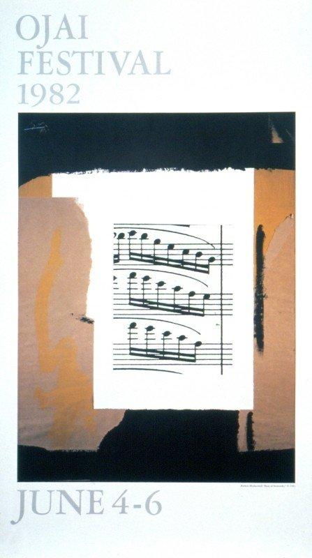 121978B: Signed Motherwell Ojai Festival Poster