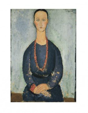 Modigliani La Femme Au Collier De Corail Print
