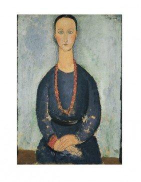 122073: Modigliani La Femme au Collier de Corail Print