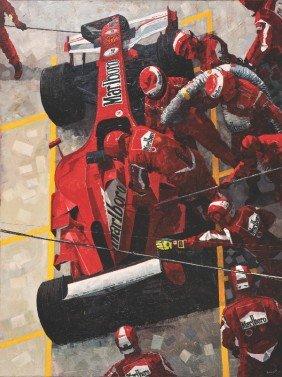 123173B: Signed Baird Marlboro Men Painting