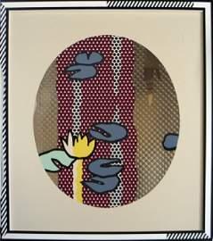 999927B: S/N 1992 Lichtenstein Blue Water Lily Pads Pri