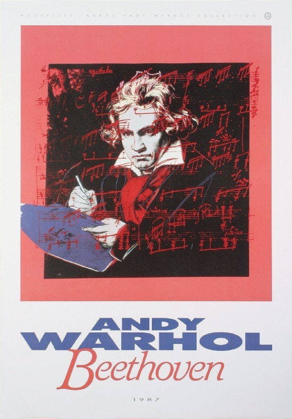 Warhol Beethoven (Blue Book) Poster