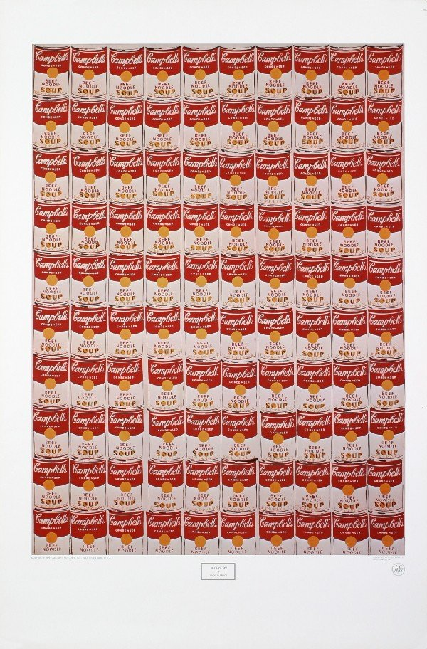 1978 Warhol 100 Campbell's Soup Cans Poster