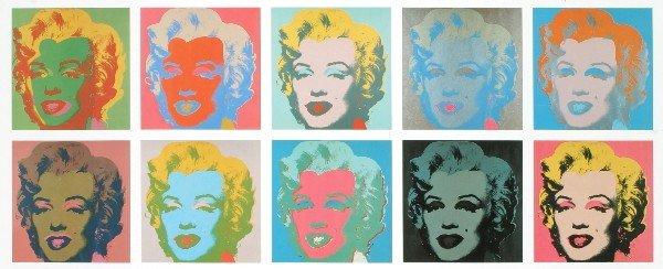10 Warhol Sunday B Morning Marilyn Serigraphs