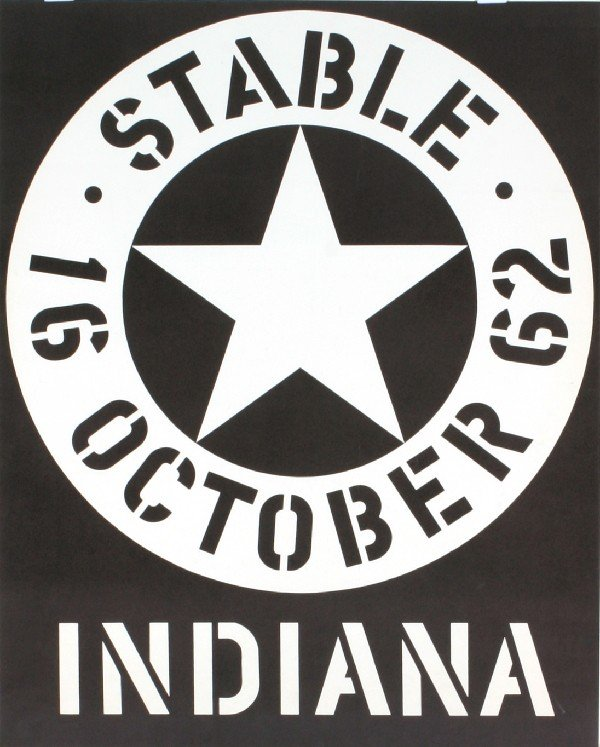 Signed 1962 Indiana Stable Serigraph