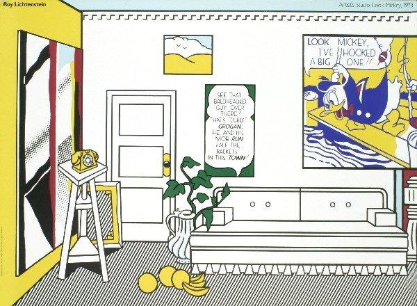 Lichtenstein Artist's Studio, Look Mickey Poster