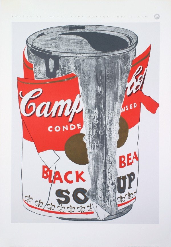 Warhol Big Torn Campbell's Soup Can Poster