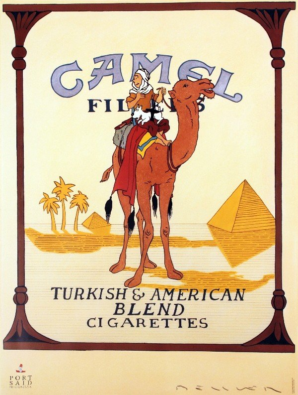 50  Tintin - Camel Cigarettes Posters