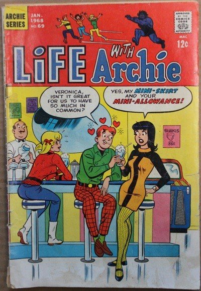 1968 Life With Archie #69 Book