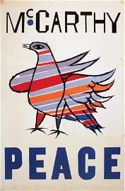 1968 Shahn McCarthy Peace Lithograph