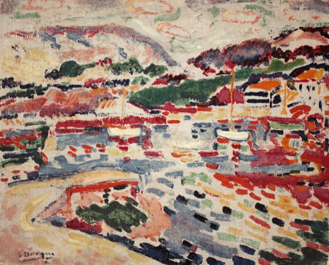 1021: Braque The Landing-stage at L'estaque Mixed Media