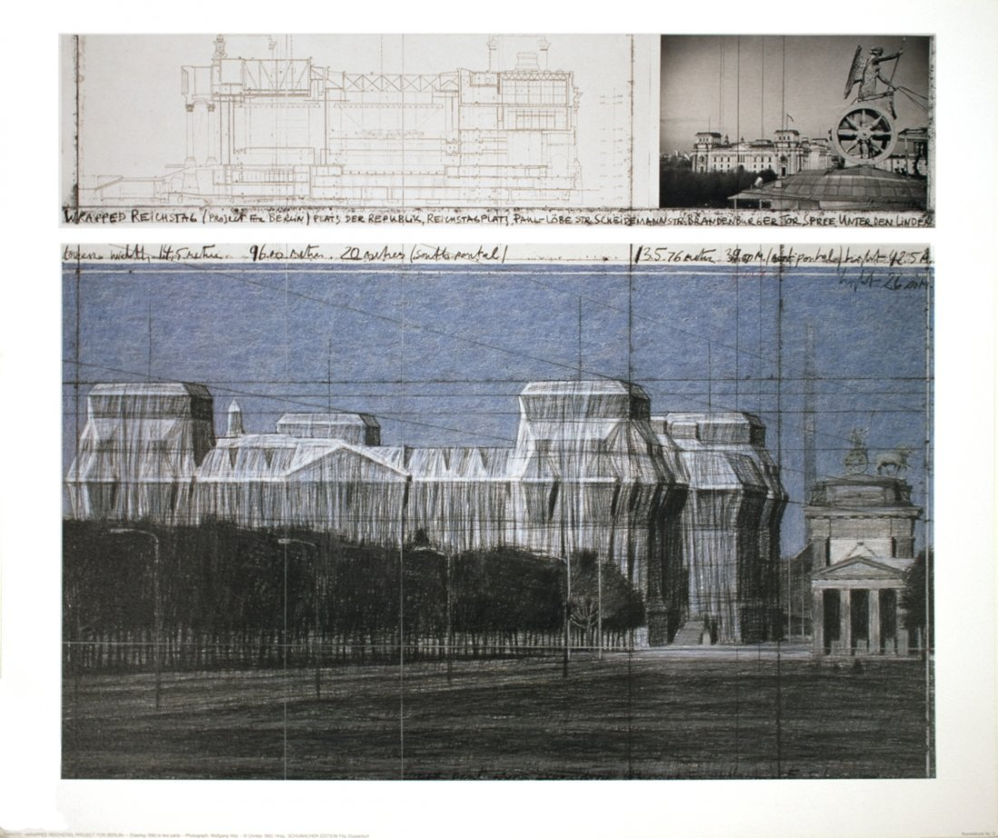 1028: Christo Wrapped Reichstag, Berlin Project Poster