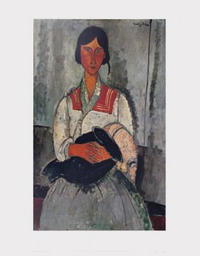 Modigliani Gypsy Woman And Baby Poster