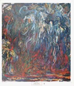 Monet Weeping Willow Poster
