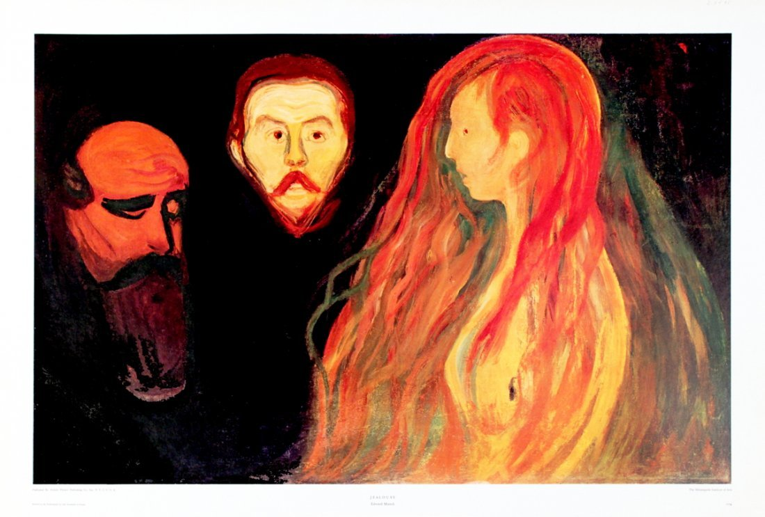 1125: Munch Jealousy Poster