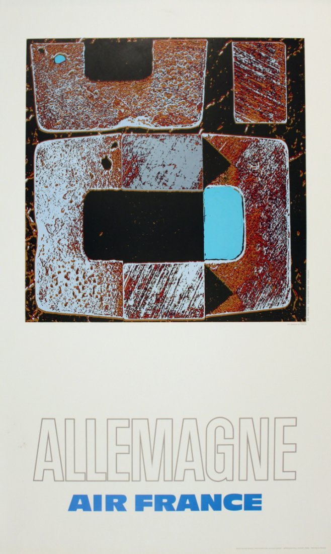 1133: 1971 Pages Air France: Allemagne Poster